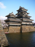 Japanese Castle. Matsumoto castle is one of the most beuatiful castles in Japan royalty free stock photography