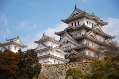 Japanese castle. One of the famous and oldest castle in Japan. Himeji castle Stock Photo