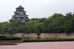 Japanese castle. Castle in Hiroshima royalty free stock image
