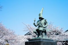 Japanese castle architect Kato Kiyomasa. Nagoya Castle`s huge construction project was tendered out to Tokugawa`s vassals and trusted allies in the north and stock images