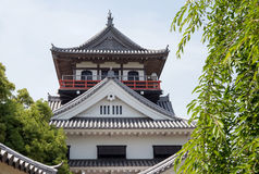 Japanese castle. Japanese architecture of the edo period Stock Image
