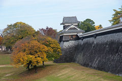 Japanese castle in city Kumamoto royalty free stock image