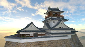 Japanese castle. 3D CG rendering of the Japanese castle Royalty Free Stock Photography