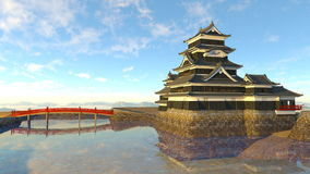 Japanese castle. 3D CG rendering of a Japanese castle Stock Image