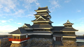 Japanese castle. 3D CG rendering of a Japanese castle Stock Photos