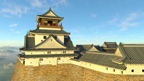 Japanese castle. 3D CG rendering of the Japanese castle Stock Photography