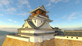 Japanese castle. 3D CG rendering of the Japanese castle Royalty Free Stock Image