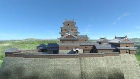 Japanese castle Royalty Free Stock Image