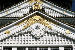 Japanese Castle Details Stock Images