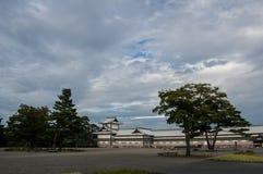 Japanese castle in the esplanade Stock Photo