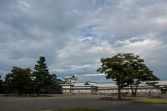 Japanese castle in the esplanade Stock Photography