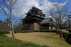 Japanese castle at garden with sky background Stock Images