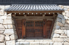 Japanese castle gate Stock Photography