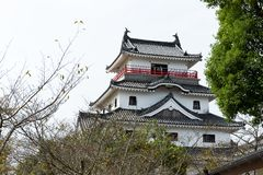 Japanese Castle, Karatsu Castle. Beautiful sightseeing scenery landscape stock image
