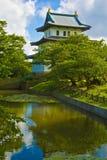 Japanese castle, Matsumae, Hokkaido. Japanese castle in Matsumae, Hokkaido, Japan stock photos