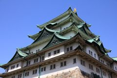 Japanese Castle in Nagoya Stock Images