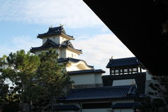 Japanese castle. Replica. Japan Pavilion, Epcot Center, Florida Royalty Free Stock Photos