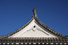 Japanese Castle Roof. Gargolye on top of Kochi castle roof Stock Photography