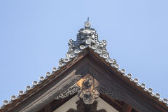 Japanese Castle Roof. A roof of Nijo Castle, KYOTO, Japana Stock Images