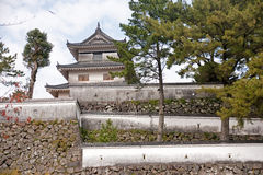 Japanese castle in Shimambara stock photos