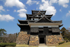 Japanese castle with sky background Royalty Free Stock Images