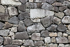 Japanese castle stone rampart pattern Royalty Free Stock Image