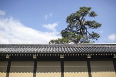 Japanese castle wall. In Kyoto Stock Photo