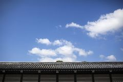 Japanese castle wall. In Kyoto Royalty Free Stock Photos