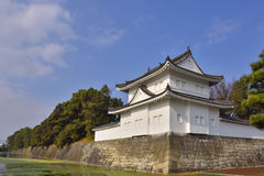 Japanese Castle Wall and Moat Royalty Free Stock Photography