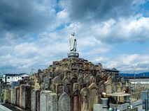 A Japanese cemetary in Nara Royalty Free Stock Images