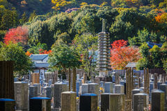 Japanese cemetery at Arashiyama area Royalty Free Stock Images