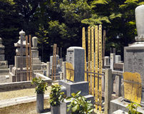 Japanese Cemetery - Eikando Temple - Kyoto. Japanese cemetery in the grounds of Eikando Temple in Kyoto in Japan Stock Photos