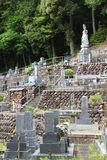 Japanese cemetery Royalty Free Stock Photo