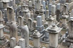 Japanese cemetery Royalty Free Stock Image