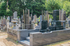 Japanese Cemetery Stock Photography