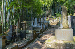 Japanese Cemetery Royalty Free Stock Photography