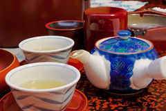 Japanese Ceramic Tea Set Royalty Free Stock Photo