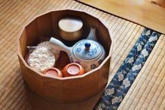 Japanese Ceramic Tea Set Royalty Free Stock Photos