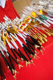 Japanese ceremonial notched arrows sold at Shrines Stock Image
