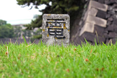 Japanese character for electricity Royalty Free Stock Images