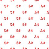 Japanese characters pattern, cartoon style Stock Images