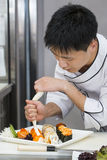 Japanese chef Royalty Free Stock Images