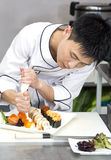 Japanese chef Royalty Free Stock Photography