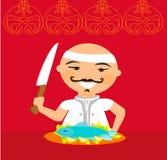 Japanese chef. Royalty Free Stock Photos