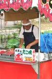 Japanese Chef preparing Japanese pancake Takoyaki Royalty Free Stock Image