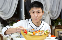 Japanese chef Stock Photography