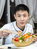 Japanese chef Royalty Free Stock Image