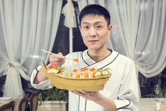 Japanese chef Royalty Free Stock Photo