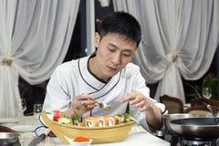 Japanese chef Royalty Free Stock Photo