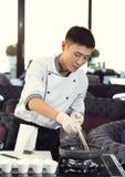 Japanese chef Stock Photos